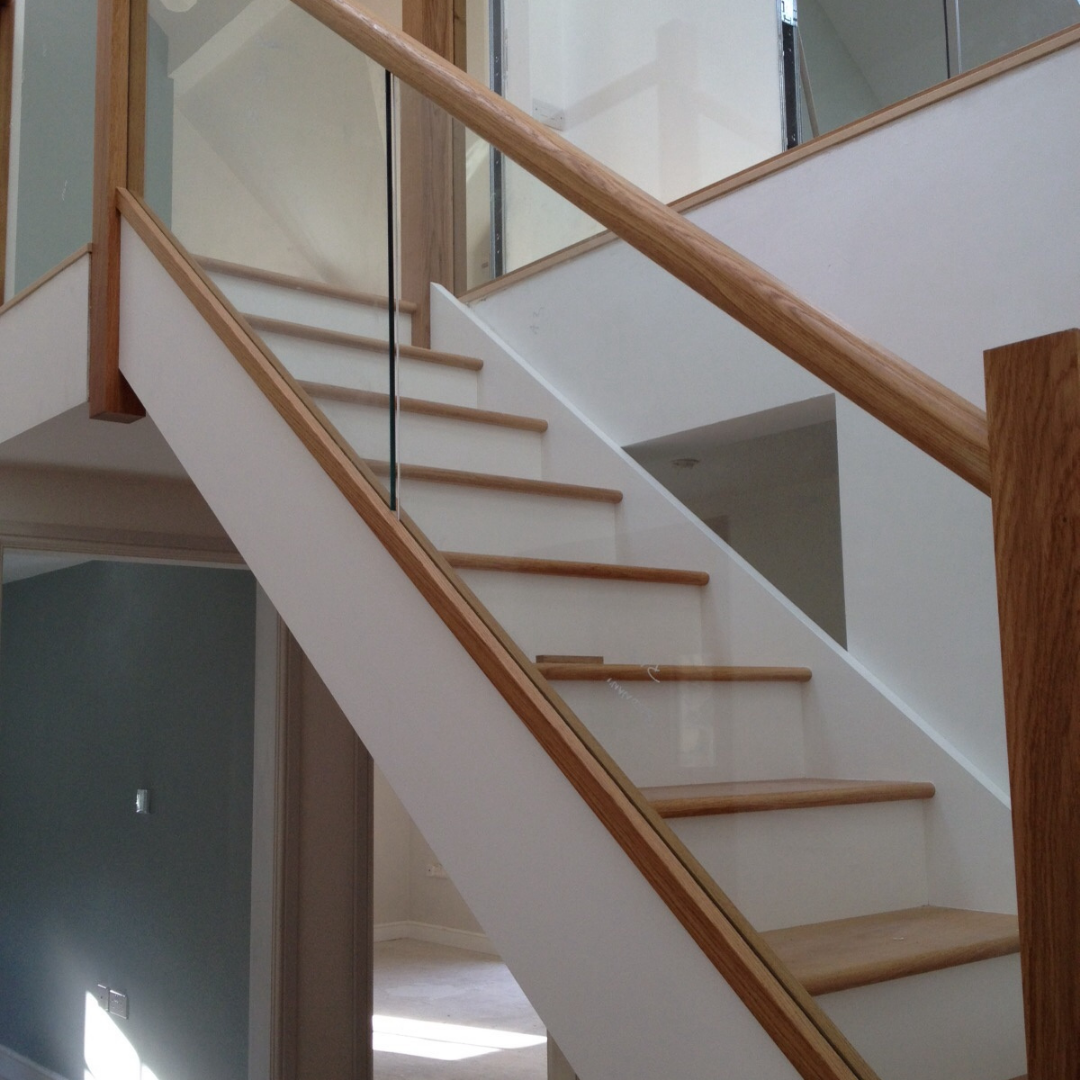 Bespoke Glass Staircase by Bodnant Estate Joinery