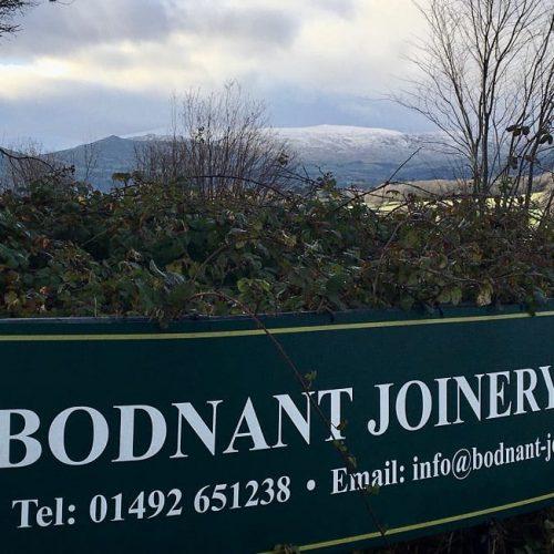 Bodnant Joinery snowy backdrop